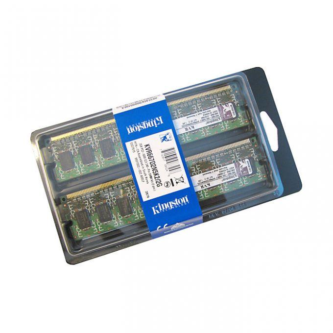 голяма снимка на KIT 2X1GB KINGSTON DDR2 667