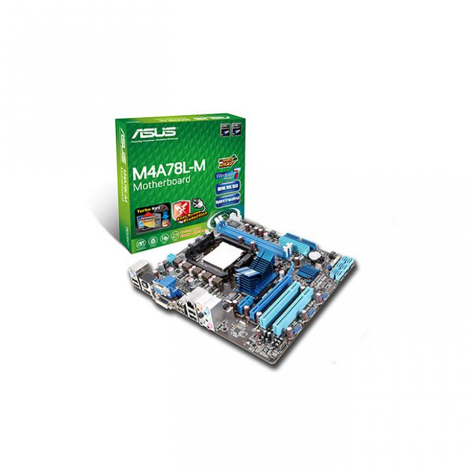 голяма снимка на ASUS M4A78L-M /AMD760G/AM2+