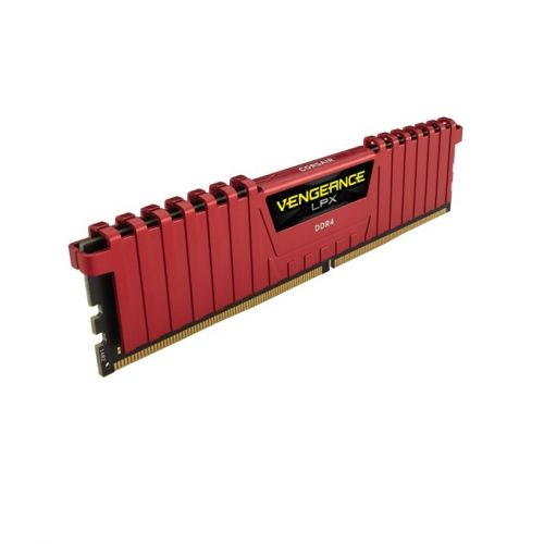 голяма снимка на CORSAIR DDR4 LPX 8GB 2400MHz C14 RED