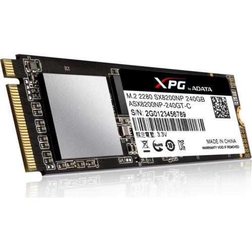 голяма снимка на ADATA SX8200 240G M2 2280 PCIE