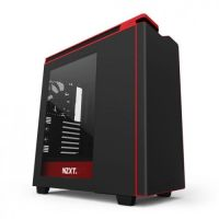 NZXT H442W-M1 Black/Red Mid Tower Window