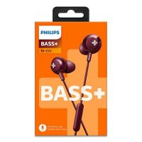 Philips BASS+ Headphones Red SHE4305RD