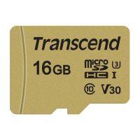 Transcend 16GB microSDHC I Class 10 U3 V30 TS16GUSD500S