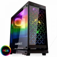 Case Gamemax ATX Fully Tempered Glass Polaris Black RGB