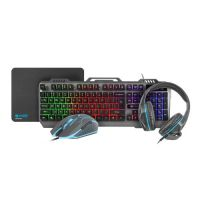 THUNDERJET 4-in-1 Keyboard Mouse Headset Mousepad NFU-1217