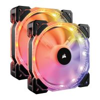 Corsair HD140 RGB 140mm LED 2 Fan Kit with Controller CO-9050069-WW