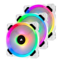 Corsair White LL120 RGB 120mm Dual Light Loop 3 Fan + Lighting Node PRO Pack CO-9050092-WW