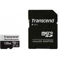 Transcend 128GB microSD w adapter UHS-I U3 A2 Ultra Performance TS128GUSD340S